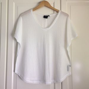 Out from Under White Frankie Oversized Thermal Tee